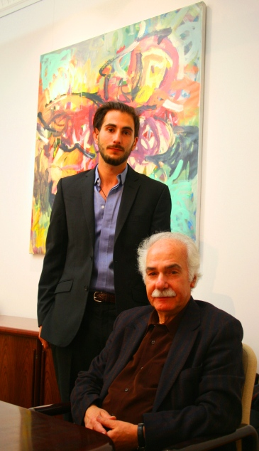 Andre Naffis Sahely and Abdellatif Laabi photo by Tam Hussein