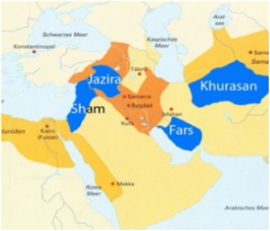 Map of Greater Syria or Sham